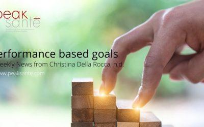 Performance Based Goals…